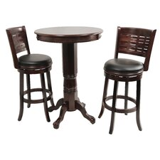 <strong>Boraam Industries Inc</strong> Sumatra 3 Piece Pub Table Set
