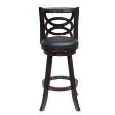 "Seina 29"" Swivel Bar Stool with Cushion"