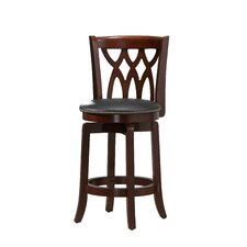 "<strong>Boraam Industries Inc</strong> Cathedral 24"" Swivel Bar Stool with Cushion"
