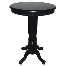 Florence Pedestal Pub Table in Solid Black
