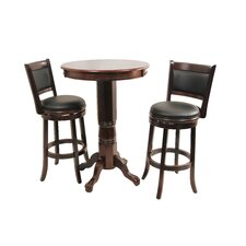 Augusta Three Piece Pub Set in Cappuccino
