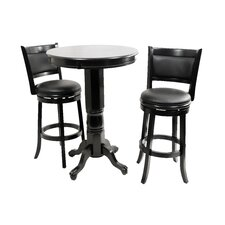Augusta 3 Piece Pub Set in Black