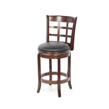 "Kyoto Swivel 24"" Bar Stool with Cushion"