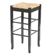 "29"" Rush Seat Barstool in Black"