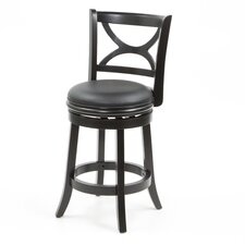 "Florence 24"" Swivel Bar Stool with Cushion"