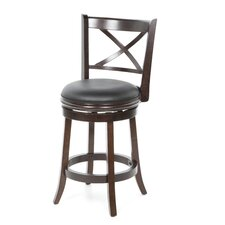 "Georgia 24"" Counter Stool in Cappuccino"