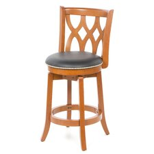 "Cathedral 24"" Swivel Bar Stool with Cushion"