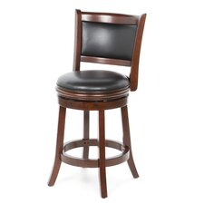 "Augusta 24"" Swivel Bar Stool with Cushion"