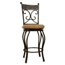 "29"" Beau Swivel Stool Black/Gold"