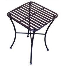 <strong>Pangaea Home and Garden</strong> Folding Iron Square Side Table