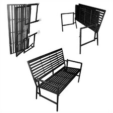 <strong>Pangaea Home and Garden</strong> Folding Contemporary Iron Garden Bench