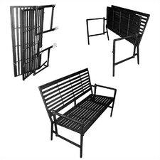 Iron Folding Garden Bench