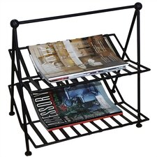 <strong>Pangaea Home and Garden</strong> Black Iron Magazine Rack