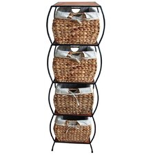Seagrass 4 Drawer Basket Storage Cabinet