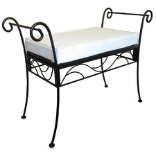 75Poet's Single Iron Garden Bench