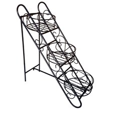 <strong>Pangaea Home and Garden</strong> Folding Iron Plant Stand with Three Baskets