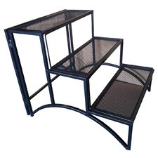 Folding Rectangular Three Layer Iron Plant Stand