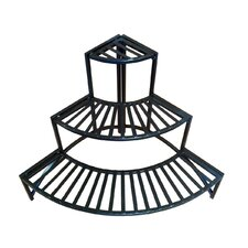Folding Corner Three Layer Iron Plant Stand