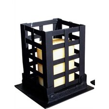Square Wrought Iron Pillar Candle Holder