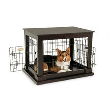 Indoor Wooden Wire Kennel