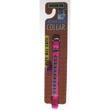 Aspen Pets Jeweled Break Away Cat Collar in Hot Pink