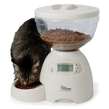 Le Bistro Programmable Pet Feeder in White - 5 Pound