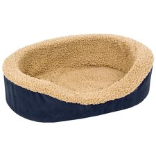 Plush Lounger Bolster Dog Bed
