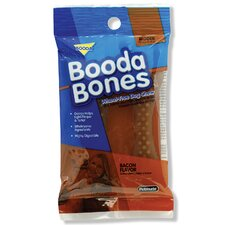 "6"" Bacon Flavor Bigger Booda Bones Dog Treat (2-Pack)"