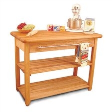 French Country Prep Table with Butcher Block Top