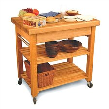 <strong>Catskill Craftsmen, Inc.</strong> French Country Kitchen Cart with Butcher Block Top