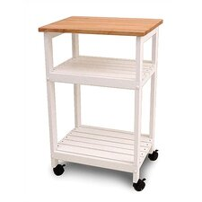 <strong>Catskill Craftsmen, Inc.</strong> Cottage Microwave Cart with Butcher Block Top