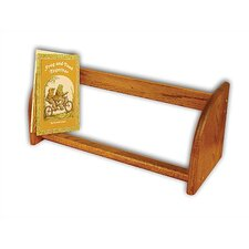 Jiffy Walnut Stain Hardwood Book / CD / Video Rack