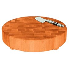 <strong>Catskill Craftsmen, Inc.</strong> Round Slab End Grain Chopping Block with Feet