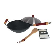 "14"" Professional Non-Stick 4-Piece Wok Set"