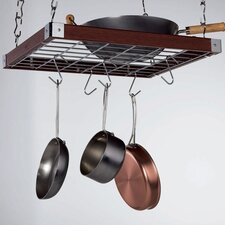 <strong>Concept Housewares</strong> Square Hanging Pot Rack