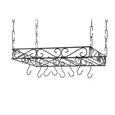 <strong>Concept Housewares</strong> Metal Pot Rack