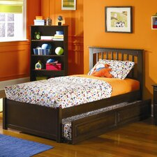 <strong>Atlantic Furniture</strong> Brooklyn Platform Bed with Flat Panel Footboard and Trundle