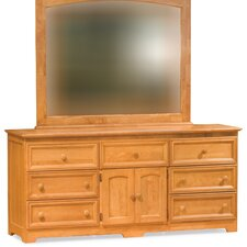 <strong>Atlantic Furniture</strong> Manhattan 7 Drawer Dresser with Mirror