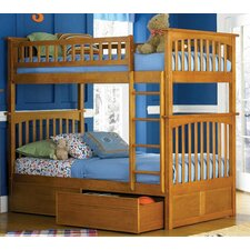 <strong>Atlantic Furniture</strong> Columbia Bunk Bed with Flat Panel Drawers