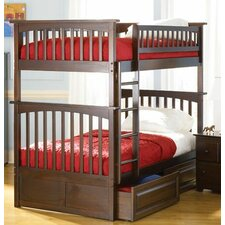 <strong>Atlantic Furniture</strong> Columbia Bunk Bed with Raised Panel Drawers