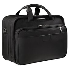 Work Executive Clamshell Leather Laptop Briefcase