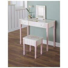 Bouquet Vanity Table and Stool Set