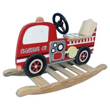 Trains and Trucks Fire Engine Rocker