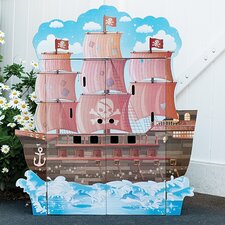 Pirate Boat Play House with Furniture