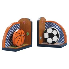 Fantasy Fields - Lil' Sports Fan Set of Bookends (Set of 2)