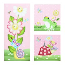 3 Piece Magic Garden Wooden Canvas Art Set
