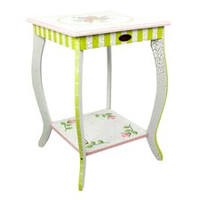 Fantasy Fields - Crackled Rose End Table