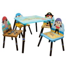 Fantasy Fields 5 Piece Kids Rectangle Table and Chair Set