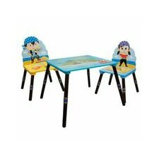 Fantasy Fields 3 Piece Kids Rectangle Table and Chair Set