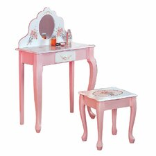 <strong>Teamson Kids</strong> Bouquet Vanity Table and Stool